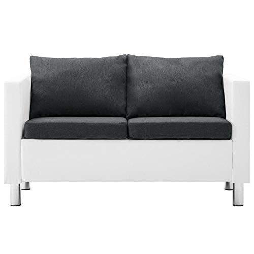 OZLXKNC Sofa 2 Stück für Schlafzimmer Holzrahmen und Stahlbeine Sofa Set Sofas für Wohnzimmer Sofa