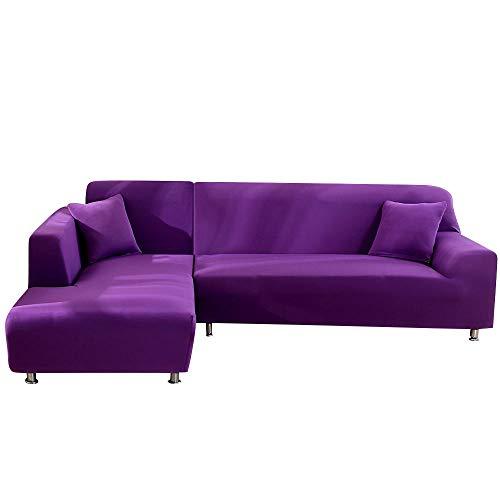 Elástico Adaptable Funda Sofá,Funda de sofá para Sala de Estar, Funda de sofá Chaise Longue seccional en Forma de L: Asiento V_1 y 2 Asientos,Protector Sofá Cubierta De Moda