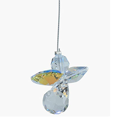 Swarovski Cristal Colgante Ángel guarda Caireles Arcoiris Fabricante AURORA BOREALIS