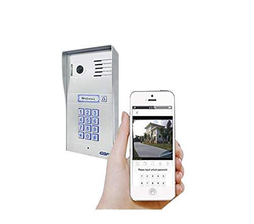 GBF Global Wireless Video Door Phone & Doorbell WiFi Intercom System,1080P HD, Smart Keypad, Motion Detection, Night Vision, 2-Way Audio, Local and Cloud Storage, Weatherproof
