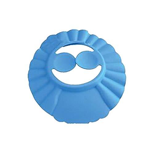 Y56(TM) Shampoo Baden Dusche schützen weiche Kappe Hut für Baby-Kinder, Einstellbar Shampooaugenschutz Badekappe Shampoo Schutzschild Bade Spritzschutz Dusche Schützen für Baby Kinder (Blue, 40cm)