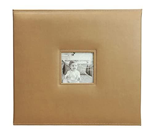 メガアルバム 1500 ATSUI OMOI(アツイオモイ) 1500枚収納 フリーポケット台紙10枚付き ライトブラウン