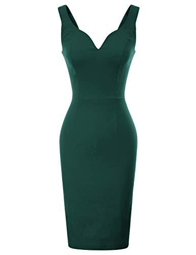 GRACE KARIN bleistiftkleid Rockabilly Business Kleid festlich etuikleid CL987-7 2XL