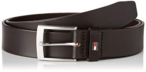 Tommy Hilfiger Adan Leather 3.5 Cinturón, Marrón (Brown 0Hd), (Talla del fabricante: 80) para Hombre