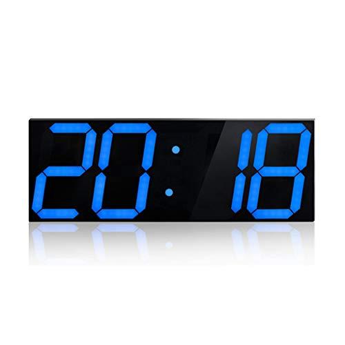 DOLDOA Home Wecker,Kreative Boxed LED Stereo Clock Digitalwecker Acryl Stereo Clock Geburtstagsgeschenk (Blau)