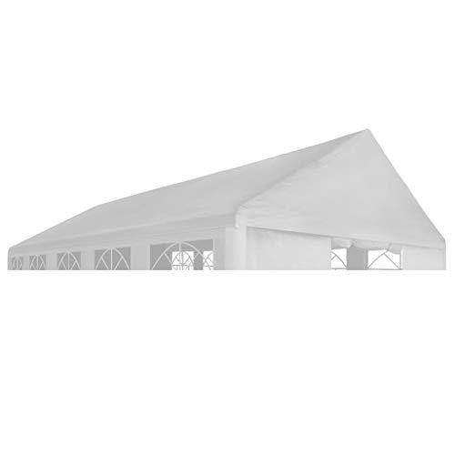 vidaXL Dach für Partyzelt Zelt 6x12m Weiß Ersatzdach Dachplane Pavillondach