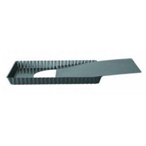 IBILI Quicheform-Set Moka, rechteckig, 36 x 13 cm, Stahlblech, schwarz, 36 x 13 x 2.5 cm, 2-Einheiten