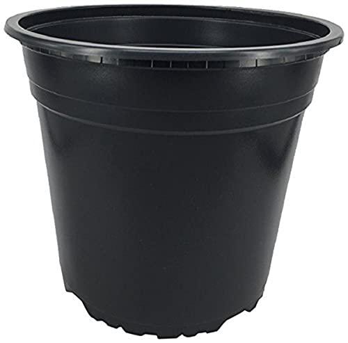 Nutley's HSM32510 10 x 5 litre Black Plastic Plant Pots