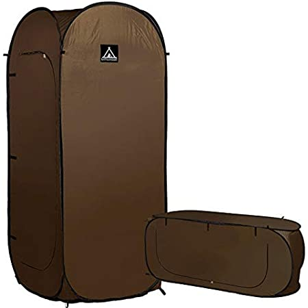 サングッド シングルテント 一人用テント ブラウン 縦型・横型使用可能 簡単に広がります 就寝用・個室ができる 非常時 防災 SINGLE TENT