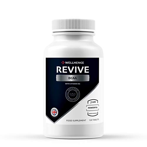 Revive BCAA | 120 Tablets | L-Leucine, L-Isoleucin, L-Valine and Vitamin B6 | Faster Sports Recovery | Crafted by WellHence Nutrition