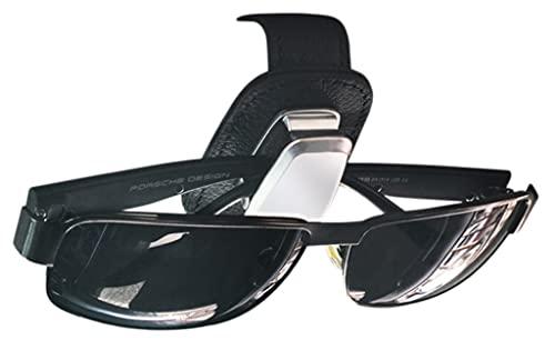 【あなたの眼鏡を守ります】 「 おしゃれ メガネクリップ 」 サングラスケース 車 取り付け簡単 サンバイザー AlphaMuse