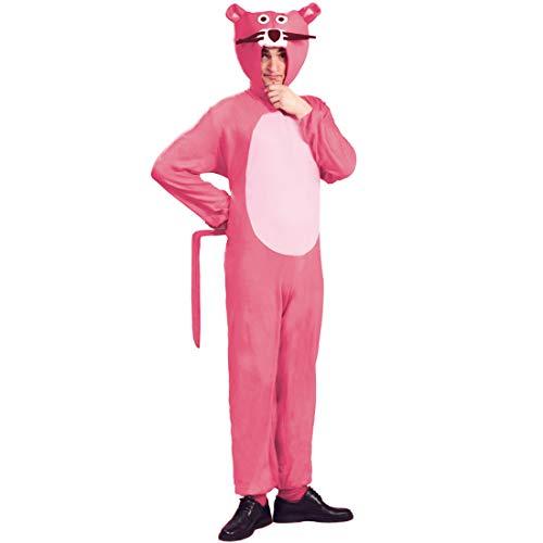 NET TOYS Pink Panther Kostüm | Rosa in Größe L (52/54) | Originelles Unisex-Outfit Paulchen Panther geeignet für Straßenkarneval & Après-Ski