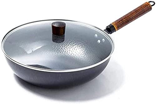 Woks - Padella antiaderente per cottura a induzione, universale, senza fumo, pentole