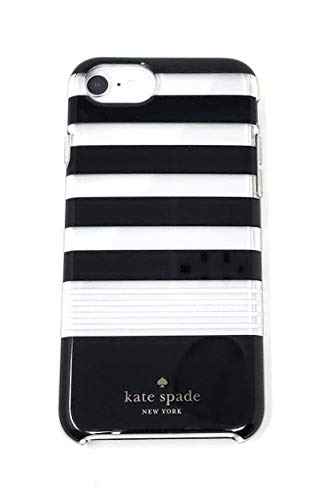 Kate Spade iPhone 8,7,6s,6 Striped Protective Case, Black/White