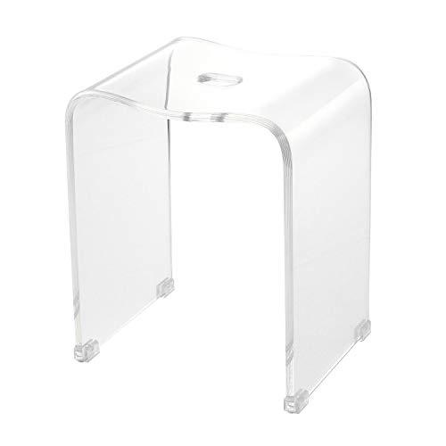 クーアイ(Kuai) アクリル バスチェア 風呂椅子 単品 LLサイズ 高さ40cm クリア