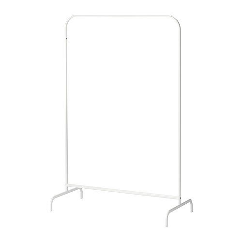 Ikea MULIG - Ropa Rack, Blanco - 99x46 cm