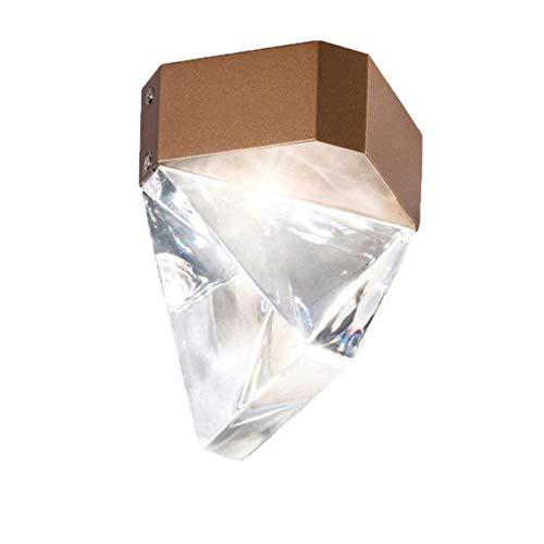 GPZ-iluminación de techo Lámpara de techo, lámpara de techo de pantalla de cristal, lámpara de techo de porche empotrado LED de pasillo creativo simple de cristal creativo [Clase energética A ++]
