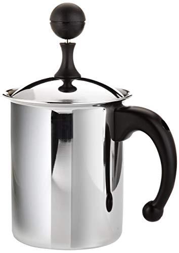 Frabosk Milchschlager Cappuccino Creamer, zu 6 Tassen,Stahl, 11 cm