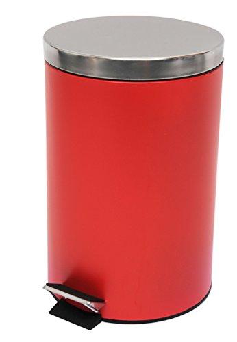 MSV Treteimer Mülleimer Kosmetikeimer Abfalleimer 12L - 12 Liter - Rot