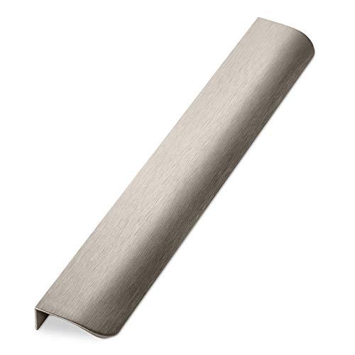 Möbelgriff BLANKETT round 300 mm Edelstahloptik gebürstet Griffprofil (Wird an die Frontinnenseite verschraubt) Schubladengriff Schrankgriff von SO-TECH®