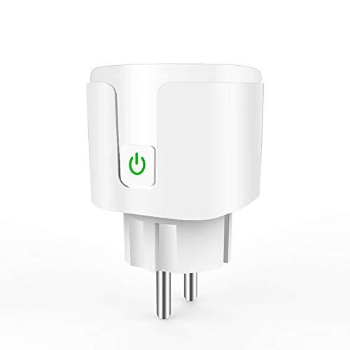 Smart & Remote Controlled Stecker, 10A 16A EU RGB WiFi Smart Plug Mit Power Monitor, Wireless-LAN drahtlose intelligente Steckdose mit Google-Startseite Voice Control