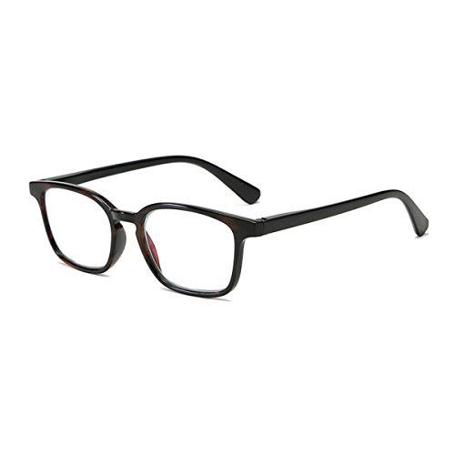 LGQ Gafas de Lectura de Montura Grande súper Ligeras, Lente de Resina Anti-luz Azul/antirradiación, Montura de Material de PC, dioptría de Gafas HD +1,00 a +3,00,Negro,+2.50