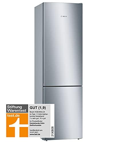 Bosch KGE39ALCA Serie 6 Freistehende Kühl-Gefrier-Kombination / C / 201 cm / 149 kWh/Jahr / Inox-look / 249 L Kühlteil / 94 L Gefrierteil / LowFrost / VitaFresh