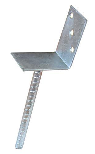 Pfostenträger zum Einbetonieren L-Form Auflage 70 mm L-Träger Zaunträger HDH