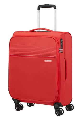 American Tourister Lite Ray - Maleta de mano (55 cm, 42 L), color rojo