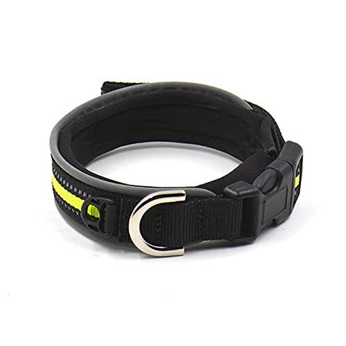 ZZCR Collar De Perro Mascota Collar De Seguridad con Forma De Perro De Varios Tamaños Collar Suave con Hebilla Collar De Perro Anti-Perdido Negro M