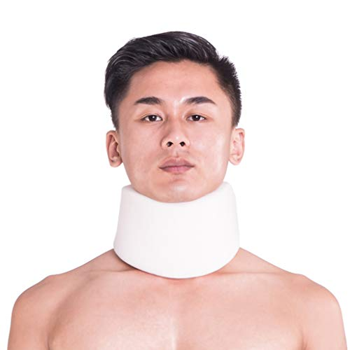 XMJESS Neck Cervical Collar Sponge Support Pillow Neck Traction Collar Brace Protector for Sleeping Traveling Relief Neck Arthritis Pain (L)