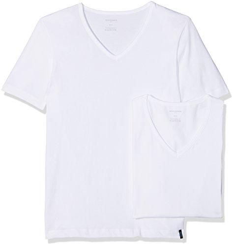 Schiesser Herren 95/5 Shirt (2er Pack) Unterhemd, Weiß (Weiß 100), 7