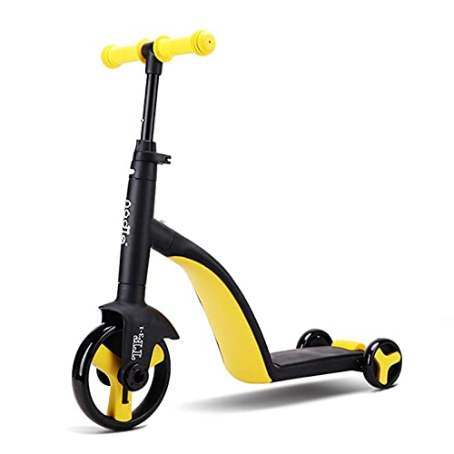 ZFF Scooter Plegable de Asiento para niños 3-en-1 Kick Scooter/Balance Bike/Tricycle Indoor/Outdoor Play-on Bike Multifuncional 3 Ruedas para Niños De 3 A 8 Años Scooter de los niños Ligeros