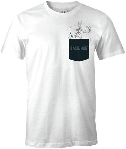 Looney Tunes MESPJ2MTS019 Camiseta, Blanco, XL para Hombre