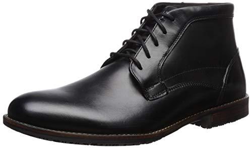 Rockport Men's Dustyn Chukka Boot, black, 11.5 M US