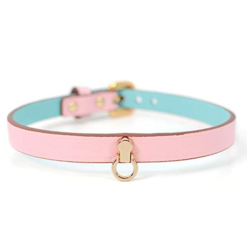 Collar Sex O Ring Choker Joker Kette Damen Bondage Halsband Bdsm Bondage Fesseln Kragen Einstellbare Damenaccessoires-Pink