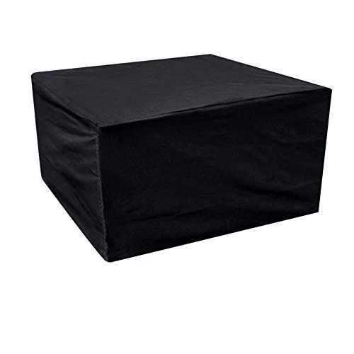 Beschermhoes voor tuinmeubelen, waterdicht, stofdicht, voor buiten, tuinmeubelen, afdekking voor tafel en stoel, zwart