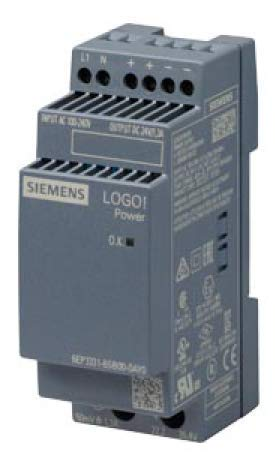 6EP3331-6SB00-0AY0 | SIEMENS LOGO! POWER POWER SUPPLY UNIT, 100-240VAC INPUT, 24VDC OUTPUT, 1.3A