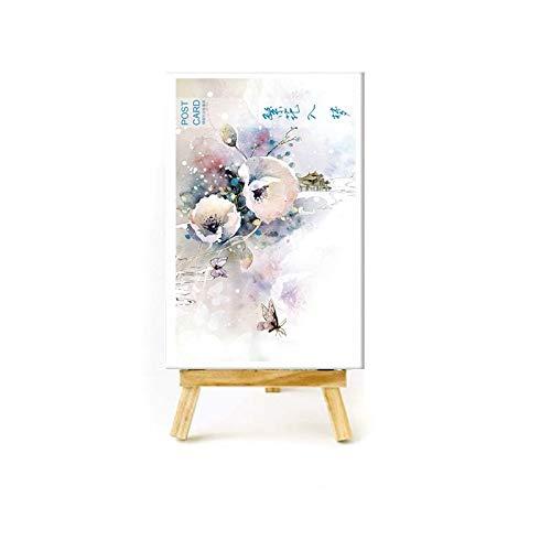 BYFRI 30 Pc/Satz Schöne Blumen-Pflanzen-Postkarte Grußkarte Wunsch-Karte Weihnachten Neujahr Geschenk-Karten