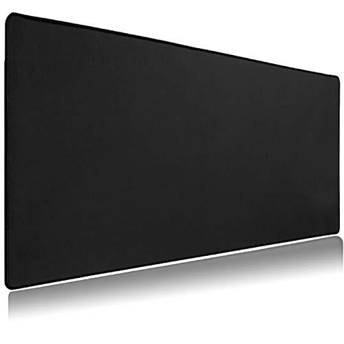 LIEVD XXL Gaming Mauspad | 900 x 400 mm | Schreibtischunterlage groß | XXL Mousepad rutschfest für verbesserte Geschwindigkeit | Tischunterlage wasserabweisend | PC Matte – Schwarz