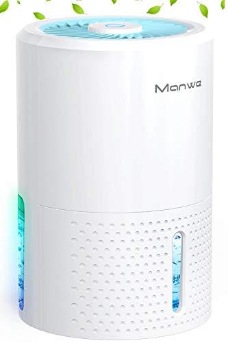 Manwe Luftentfeuchter Elektrisch 900ML, Automatischer Entfeuchter Raumentfeuchter Mini Dehumidifier Tragbar und Kompakt, gegen Feuchtigkeit, Ultra Leise für Schrank, Badezimmer, Schlafzimmer, Büro