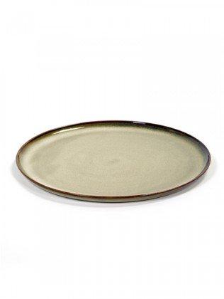 Serax Teller, Keramik, nebelgrau, Verschiedene Größen wählbar (ø 26 cm)