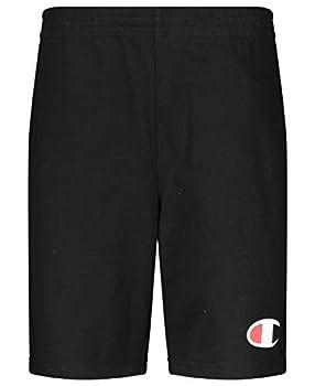 Champion Boys French Terry Short Kids Clothes  Black C Medium