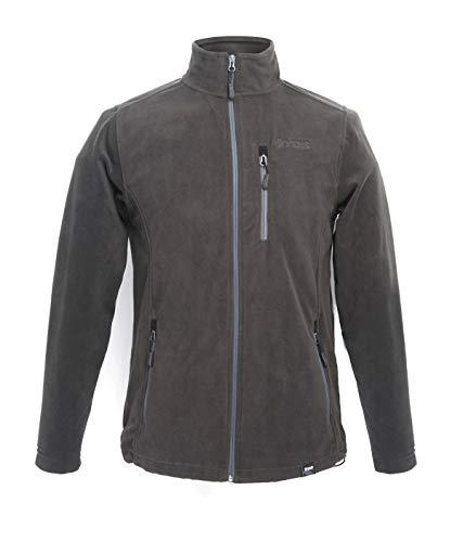 YDS - Chaqueta militar para hombre con forro polar de forro polar para exterior, chaqueta cortavientos con capucha cálida, chaquetas tácticas con múltiples bolsillos para caza (M, gris)