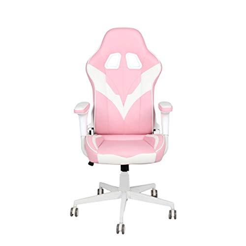 KOKOF Gaming Chair Computer Gaming Chair Silla Rosa Anchor Silla de la calculadora de la silla de juegos Asientos Deportivos de Carrera Silla Gaming Chair Home Office Chair Pink