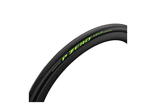 Pirelli Pzero Velo - Neumático de Bicicleta Unisex para Adultos, Negro/Lima, 700 x 25 cm