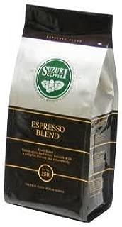 Suzuki Coffee Espresso Blend Dark Roast Italian-style Dark Roast. Smooth with a Complex Flavour and Robust Body 250 G