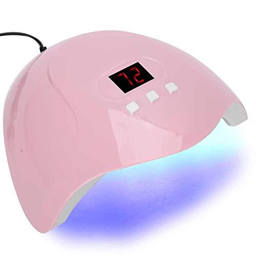 Lámpara de uñas de gel UV LED de la lámpara de uñas, uñas máquina herramienta del gel del clavo del secador del polaco 54W arte que cura la luz manicura Luz, uñas UV luz LED Digital Pantalla USB