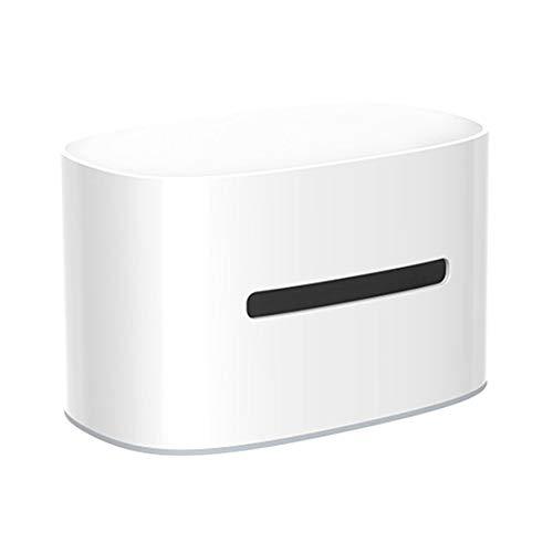 Gcroet Wet Wipes dispensador de Papel higiénico Caja de la Caja del sostenedor de la servilleta del dispensador de Carga inalámbrica de Almacenamiento Navidad para el hogar Cuarto baño salón (Blanco)
