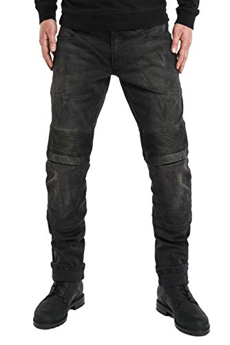 Pando Moto Karl Devil 2 Men's Motorcycle Jeans with Cordura and Kevlar Lining CE Approved Slim Fit Motorbike Trousers